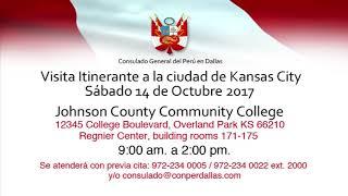 El Consulado Itinerante del Perú en Dallas visitará Kansas City para trámites consulares