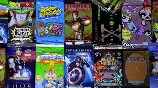 getlinkyoutube.com-Opening 22 Random Dollar Store CARD PACKS!