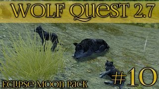 getlinkyoutube.com-Birth of Our Wolf Pups!! || Wolf Quest 2.7 - Episode #10