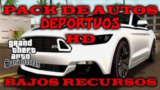 PACK DE AUTOS DEPORTIVOS HD DE BAJOS RECURSOS PARA GTA SA {IMVEHFT}
