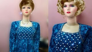 getlinkyoutube.com-شرح فصال فستان قطيفة /بنقشة ( كورة الزنبور ) الجزء الأول