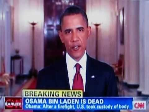 Osama Bin Laden IS DEAD!! CNN Breaking News: Barak Obama Announces Osama's Death