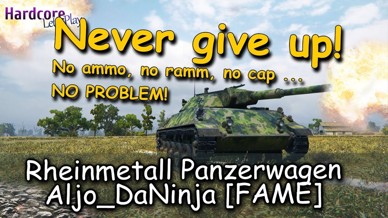 WOT  No ammo  no ramm  no cap     how to win the game  Aljo DaNinja  FAME