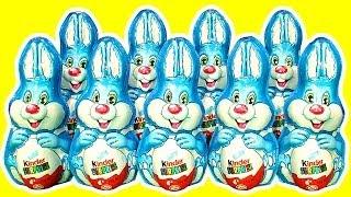 getlinkyoutube.com-10 Kinder Surprise Bunny Counting Song 1-10 Ultimate Surprise Easter Egg Toys