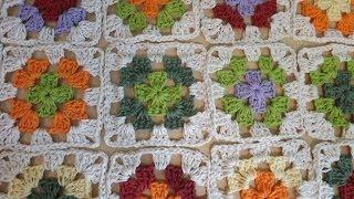 getlinkyoutube.com-Como crochet cuadrado o granny squares y pegarlos - con Ruby Stedman