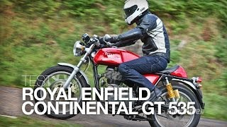 getlinkyoutube.com-TEST | Royal Enfield Continental GT, le rétro-néo