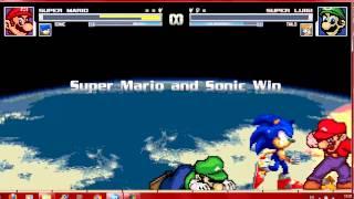 getlinkyoutube.com-Mugen Mario and Sonic vs Luigi and Tails