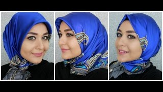 getlinkyoutube.com-3 Turkish Inspired Hijab Styles - Square Silk Scarf from Armine | Muslim Queens by Mona