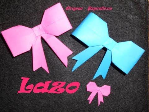 Origami - Papiroflexia. Tutorial: Lazo, Fácil y rápido