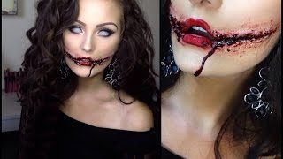 getlinkyoutube.com-Chelsea Grin / Joker Smile Makeup Tutorial