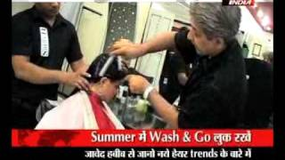 getlinkyoutube.com-jawed habbib makeover in summer exclusive special wid aradhana sharma on live india