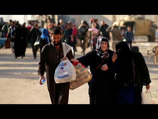 Mossul - 9.000 Flüchtlinge in vier Tagen