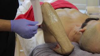 getlinkyoutube.com-Jack Dunn Male Waxing - Step by Step Male Arm Waxing Treatment
