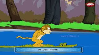 getlinkyoutube.com-Monkey and Crocodile | Panchatantra English Stories | Stories For Kids | Stories For Children HD