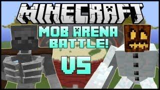 "getlinkyoutube.com-""MUTANT SNOW GOLEM VS. MUTANT SKELETON"" - Minecraft: Mob Battle Arena! (Mutant Creatures Mod)"