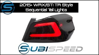 getlinkyoutube.com-Subispeed - 2015+ WRX/STI TR Style Sequential Tail Light Install