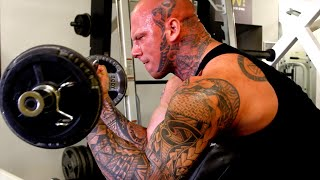 getlinkyoutube.com-Even Bigger Arms with 6'8 330LB  Martyn Ford
