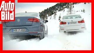 getlinkyoutube.com-Wintertest BMW 3er gegen VW Passat (2015)