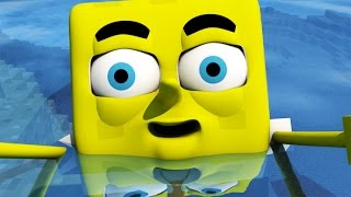 getlinkyoutube.com-♫ SPONGEBOB IN MINECRAFT 3! ♫ (3D Animation)