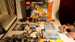 Time-Lapse of Building Lego 42009 Mobile Crane MK II (~8 hours)
