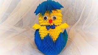getlinkyoutube.com-origami kurczak 3D / how to make a chick DIY wielkanocny tutorial