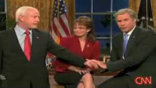 getlinkyoutube.com-Saturday Night Live SNL Will Ferrell  as Bush endorses McCain Sarah Palin Tina Frey Election 2008