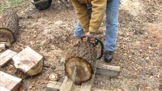 getlinkyoutube.com-#17 Bowls from Logs Part 1 Cutting Blanks from Logs