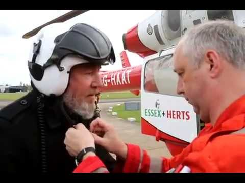 Ray Winstone visits Herts Air Ambulance
