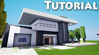 getlinkyoutube.com-Minecraft: How to Build Cool a Modern House / Mansion Tutorial + Download