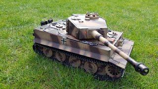 getlinkyoutube.com-RC Tank 1:16 Taigen Tiger 1 (PROFI) - unboxing and first run