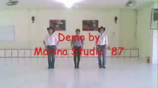 getlinkyoutube.com-Jambalaya Linedance (Marina Studio '87)
