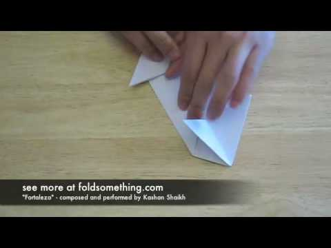 How to fold an origami paper spaceship
