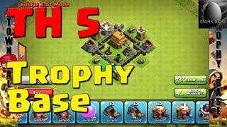 getlinkyoutube.com-Clash of Clans: Town Hall 5 Trophy Base