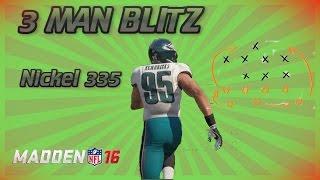 getlinkyoutube.com-Madden NFL 16: 3 Man Blitz (Nickel 335 - Cover 3 Buzz)