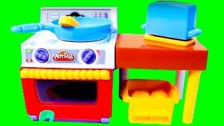 getlinkyoutube.com-Play-Doh Meal Makin Kitchen Playset Make Play-Doh Foods Creations