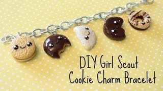 getlinkyoutube.com-DIY Polymer Clay Girl Scout Cookie Charm Bracelet!