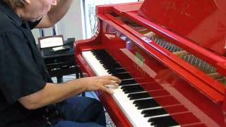 "getlinkyoutube.com-Peter plays improvisation and ""House of the rising sun"" on Elton John,s red piano"