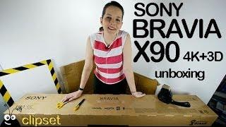 getlinkyoutube.com-Sony Bravia TV X90 4K unboxing