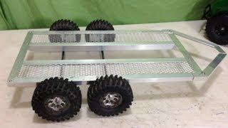 RC 1/10 Scale Tandem Axle Trailer Build
