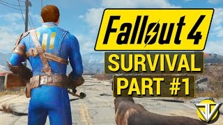 getlinkyoutube.com-FALLOUT 4: SURVIVAL MODE Let's Play Part 1 - The HARDCORE Wasteland (PC Gameplay Walkthrough)