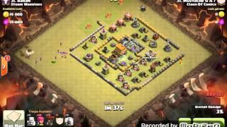 getlinkyoutube.com-Th5 vs Th6 3 star war attack balloon/archer
