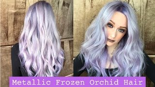 getlinkyoutube.com-Metallic Frozen Orchid Hair