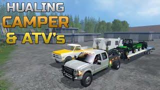 getlinkyoutube.com-Farming Simulator 2015- Hauling Camper and ATV's