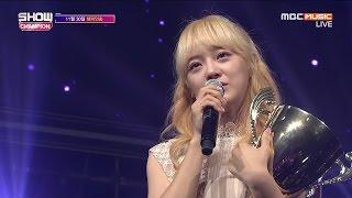 getlinkyoutube.com-161130 쇼챔피언 세정 인터뷰 꽃길 무대 1위 수상소감