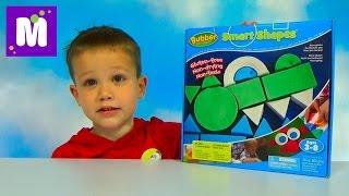 getlinkyoutube.com-Умный пластилин - песок Баббер лепим паровоз и крокодила Waba Fun Smart Shapes Bubber
