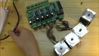getlinkyoutube.com-Обзор многоканального драйвера шаговых двигателей LPT DRV