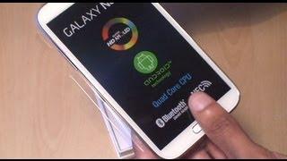 getlinkyoutube.com-Samsung Galaxy Note 2 Unboxing / Setup / First Look