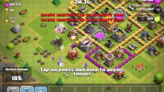 getlinkyoutube.com-Clash of clans: 41 Wizard Level 3 Attack