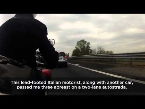 1300 km on a Vespa in 9 minutes