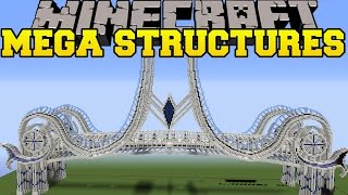 Minecraft: MEGA STRUCTURES (MASSIVE BRIDGE, AIRSHIP, TEMPLE, DRAGON, & MORE!) Mod Showcase